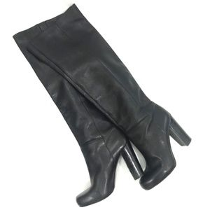309ca17cbea4b Nine West CropShop Black Leather Over Knee Boots
